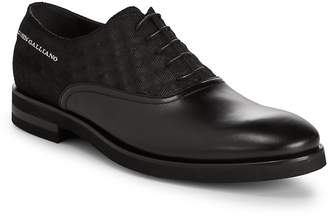 John Galliano Men's Net Leather Oxfords