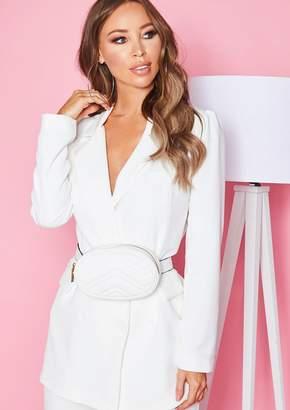 0d339b2268c4 Missy Empire Missyempire Pauline White Faux Leather Bum Bag