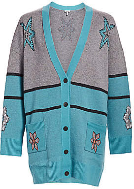 Loewe Women's Snowflake Oversized Wool Cardigan