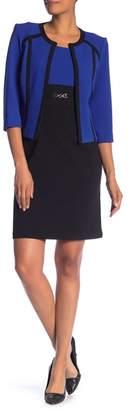 Sandra Darren Textured Knit 2-Piece Jacket & Dress