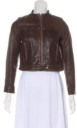 Bonnie Young Long Sleeve Leather Jacket