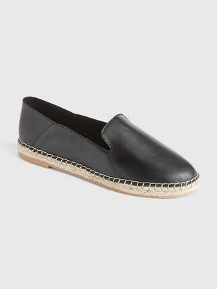 Gap Leather Loafer Espadrilles with Collapsible Back