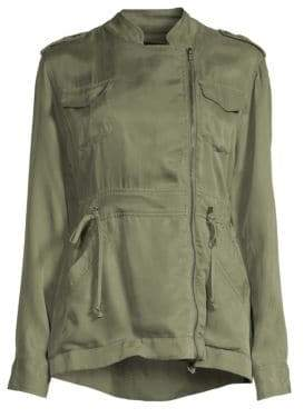 Rails Women's Miles Asymmetric Zip Utilitarian Jacket - Sage - Size Large