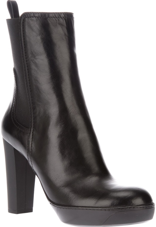 Hogan leather ankle boot