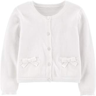 Carter's Baby Girl Bow Cardigan Sweater