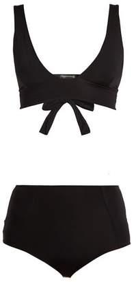 Haight - High Rise Triangle Bikini - Womens - Black