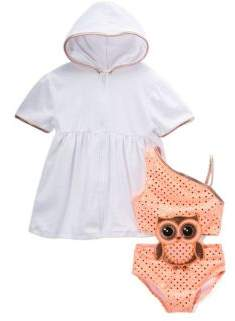 Baby Girl's Who Loves You Connect Two-Piece Coverup and One-Piece Swimsuit Set