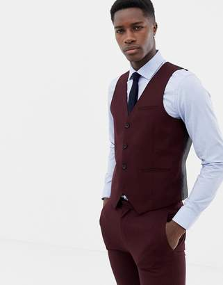 ONLY & SONS skinny vest in red