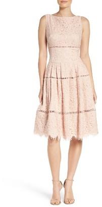 Women's Eliza J Lace Inset Midi Dress $228 thestylecure.com