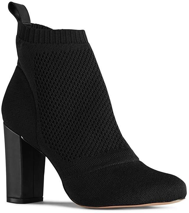 Reiss Women's Mercury Knit Block Heel Booties