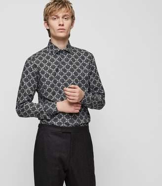 Reiss Cafe Geometric-Print Shirt