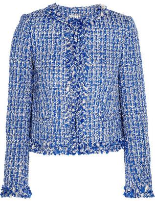 Alice + Olivia - Nila Tweed Jacket - Blue $475 thestylecure.com