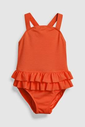 Next Girls White Character Print Frill Swimsuit (3mths-6yrs)