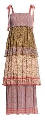 Zimmermann Juniper Tiered Print Midi Dress