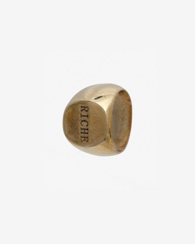 Fallon 'Riche' Signet Hoodlum Ring: Gold