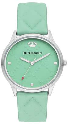 Juicy Couture Women's Mint Leather Watch, 36mm