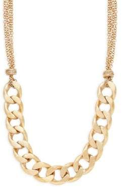 Rivka Friedman Crystal Bold Curb Link Necklace