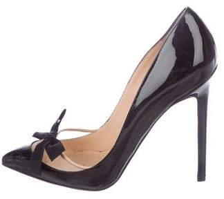 Valentino Bow-Adorned Peep-Toe Pumps the cheapest cheap price DGgRhMQ