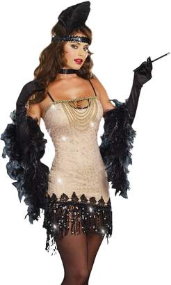 Dreamgirl Women's Sexy Glamorous Flapper Costume, Jazzy Jezebel