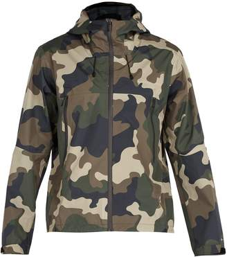 The Upside All-Weather waterproof hooded camo-print jacket