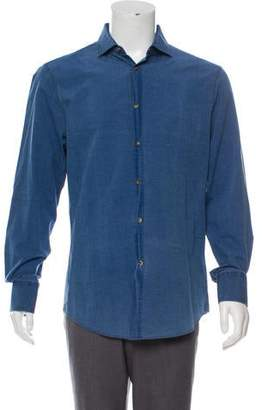 Brunello Cucinelli Chambray Button-Up Shirt w/ Tags