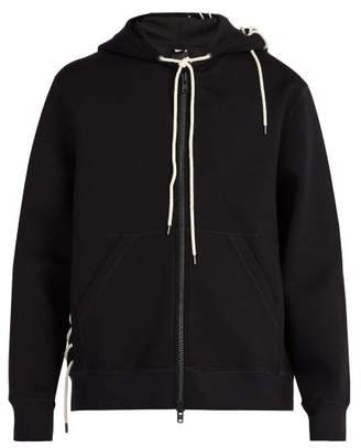 Craig Green Laced Hooded Zip Through Sweatshirt - Mens - Black