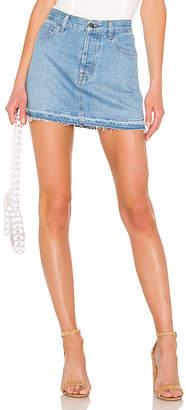 J Brand Bonny Mid Rise Mini Skirt.