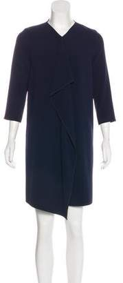 Max Mara Drape-Accented Shift Dress