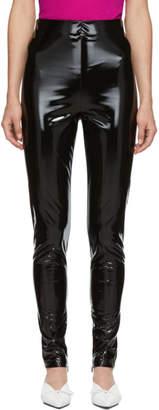 Versace Black Vinyl Pants