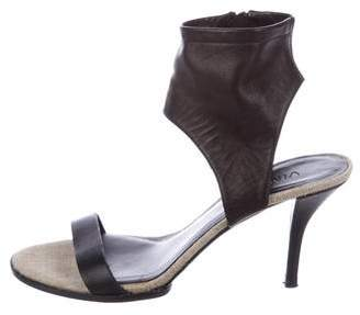 Vince Leather Ankle-Strap Sandals