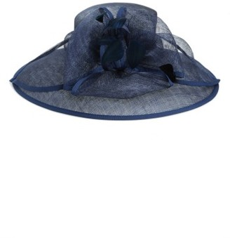 Women's Nordstrom Feathered Sinamay Hat - Blue $69 thestylecure.com