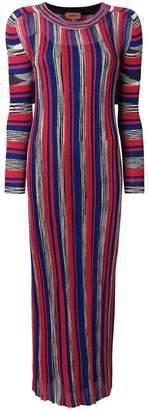 Missoni striped fitted midi dress
