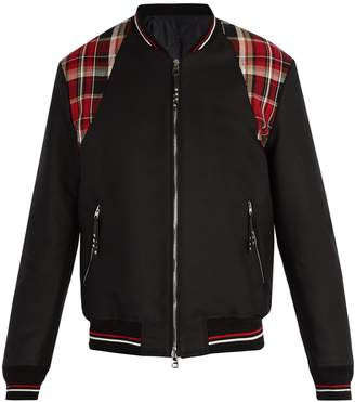 Alexander McQueen Check-panel cotton-canvas bomber jacket