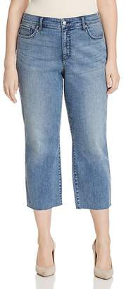 Dune NYDJ Plus Jenna Cropped Raw-Hem Jeans in Point 100% Exclusive