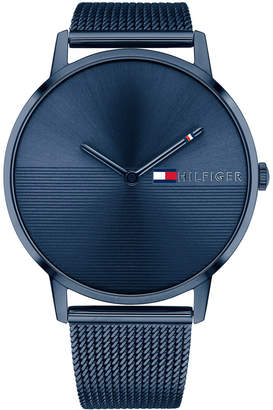 Tommy Hilfiger Women's Blue Stainless Steel Mesh Bracelet Watch 40mm