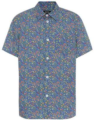 A.P.C. Floral cotton shirt