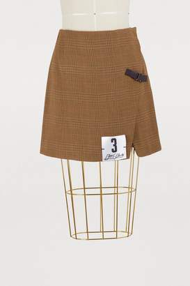 Off-White Off White Prince of Wales mini skirt
