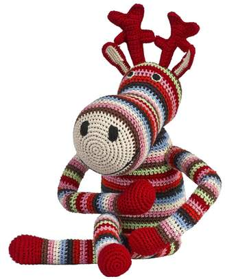 Anne Claire Hand-Crocheted Organic Cotton Reindeer