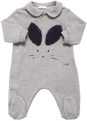 Il Gufo Rabbit Cotton Light Sweater Romper