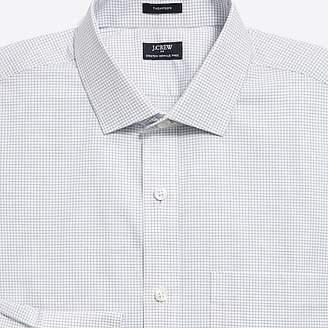 J.Crew Mercantile Mini tattersall flex wrinkle-free dress shirt