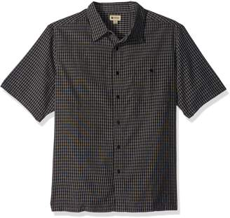 Haggar Men's Big and Tall Short Sleeve Sueded Effect Microfiber Shirt