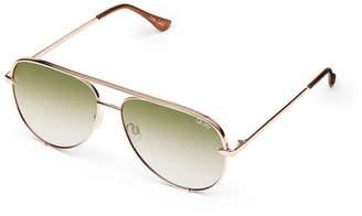 Quay Sunglasses Rose Gold High Key Sunglasses by
