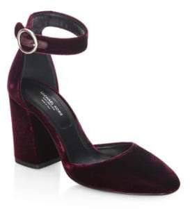 Michael Kors Collection Rena Velvet Ankle Strap Pumps