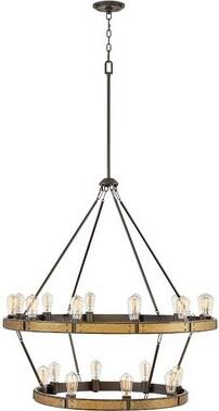 Hinkley Lighting Everett Indoor 20-Light Lantern Chandelier Hinkley Lighting