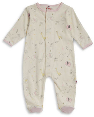 EMc2 Baby Girls Magnetic Sweet Dream Printed Cotton Footie $19.95 thestylecure.com