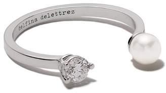 Delfina Delettrez 18kt white gold Domino Pearl Dots ring