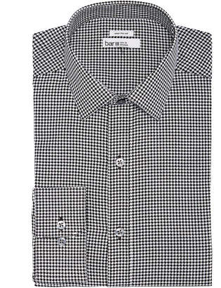 Bar III Men's Wear-Me-Out Slim-Fit Stretch Easy-Care Bold Houndstooth Dress Shirt, Created For Macy's