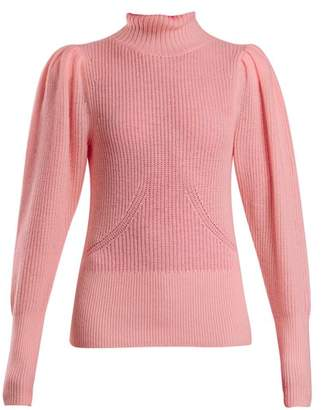 Frame Roll Neck Wool And Cashmere Knitted Sweater - Womens - Pink
