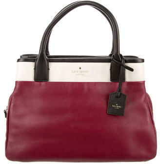 Kate Spade New York Tricolor Leather Satchel $125 thestylecure.com