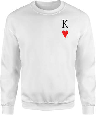 ec3259f998f231 The Valentines Collection King Of Hearts Sweatshirt